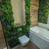 VistaFolia by VistaGreen Living Wall Foliage Wall in Bathroom