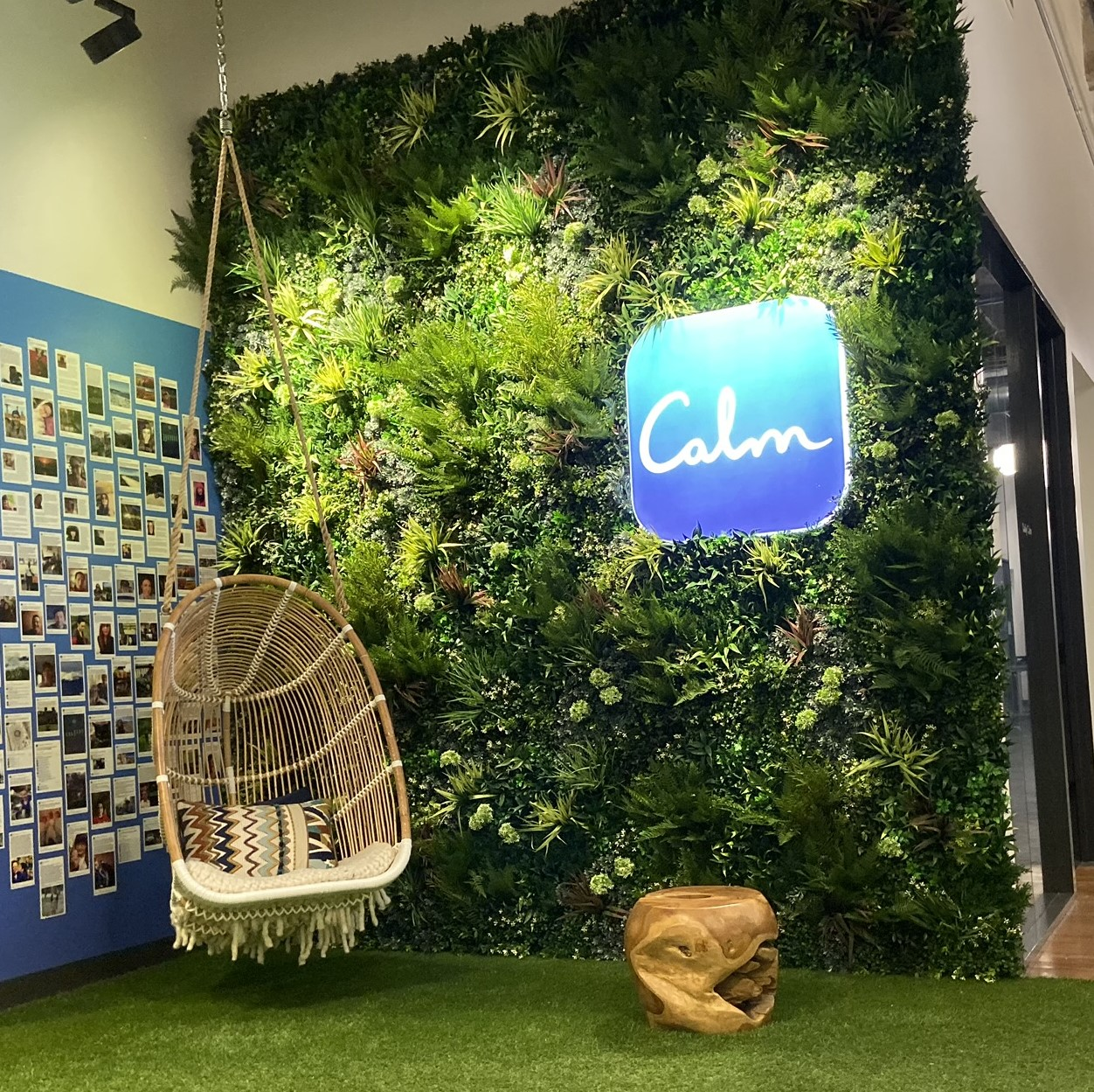 Calm, San Francisco Corporate Offices with Green Wall, Replica Living Wall